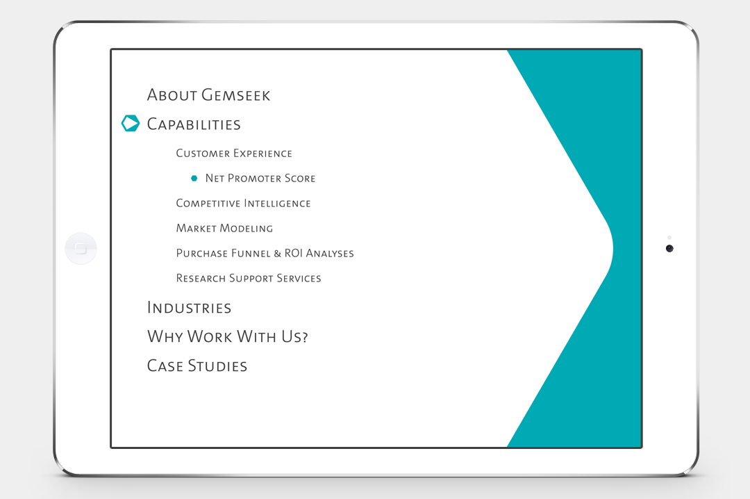 GemSeek identity presentation layout table of contents