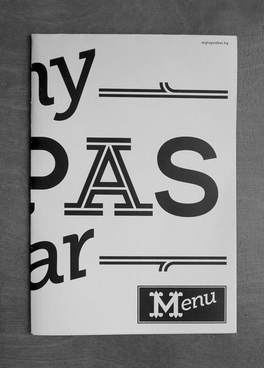 MyTapas identity brochure cover